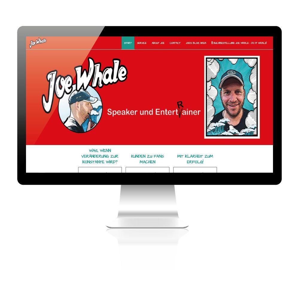 Startseiten Slider von Website Beispiel Joe Whale.