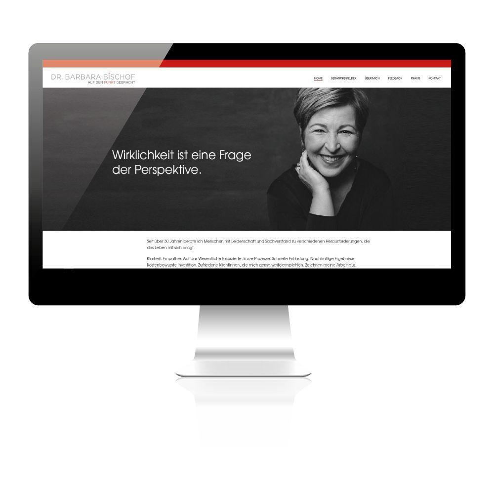 Homepage für Psychotherapeuting Wien. Individuelles Webdesign zugeschnitten auf Therapeutin.