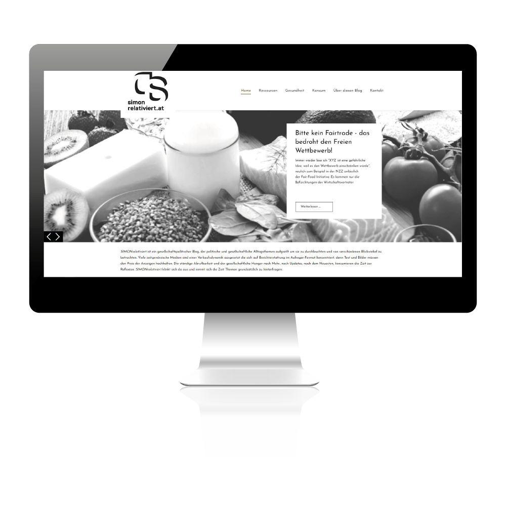 Wie erstelle ich meinen Blog? gocrate! hat hier professionell den Blog für die Kundin gestaltet.