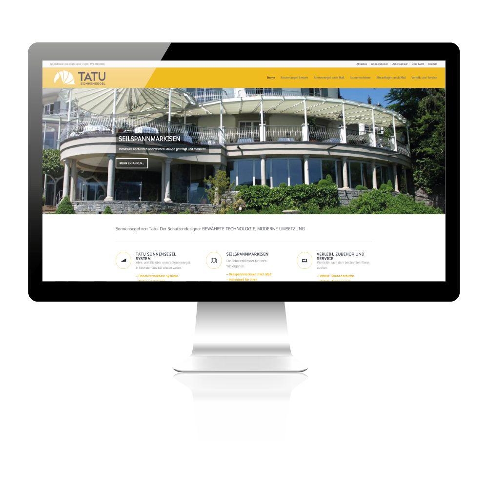 Umsetzung neuer Website für Sonnensegelhersteller aus Wien.