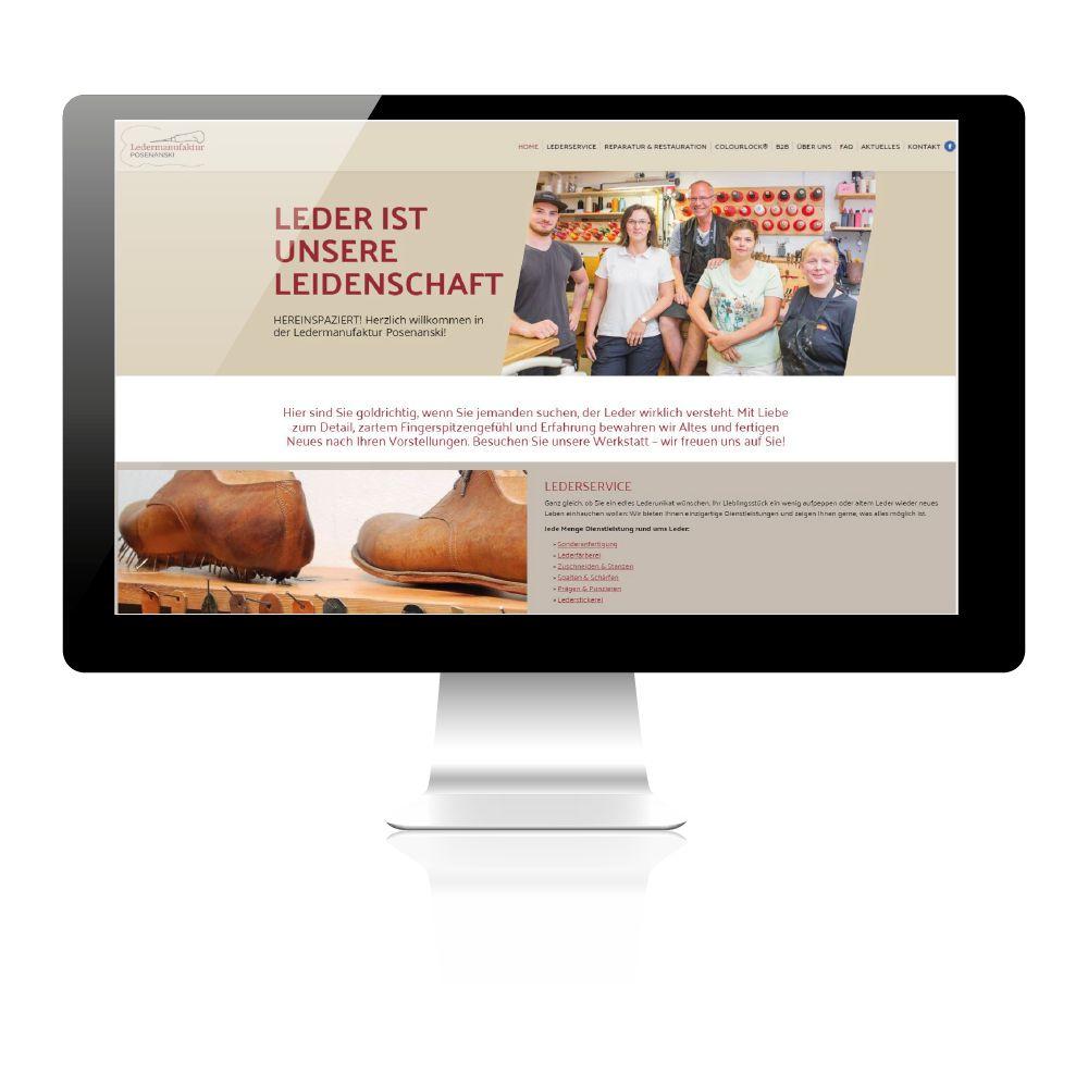 Webgestaltung der Ledermanufaktur: Neue Website- Redesign und Relaunch.