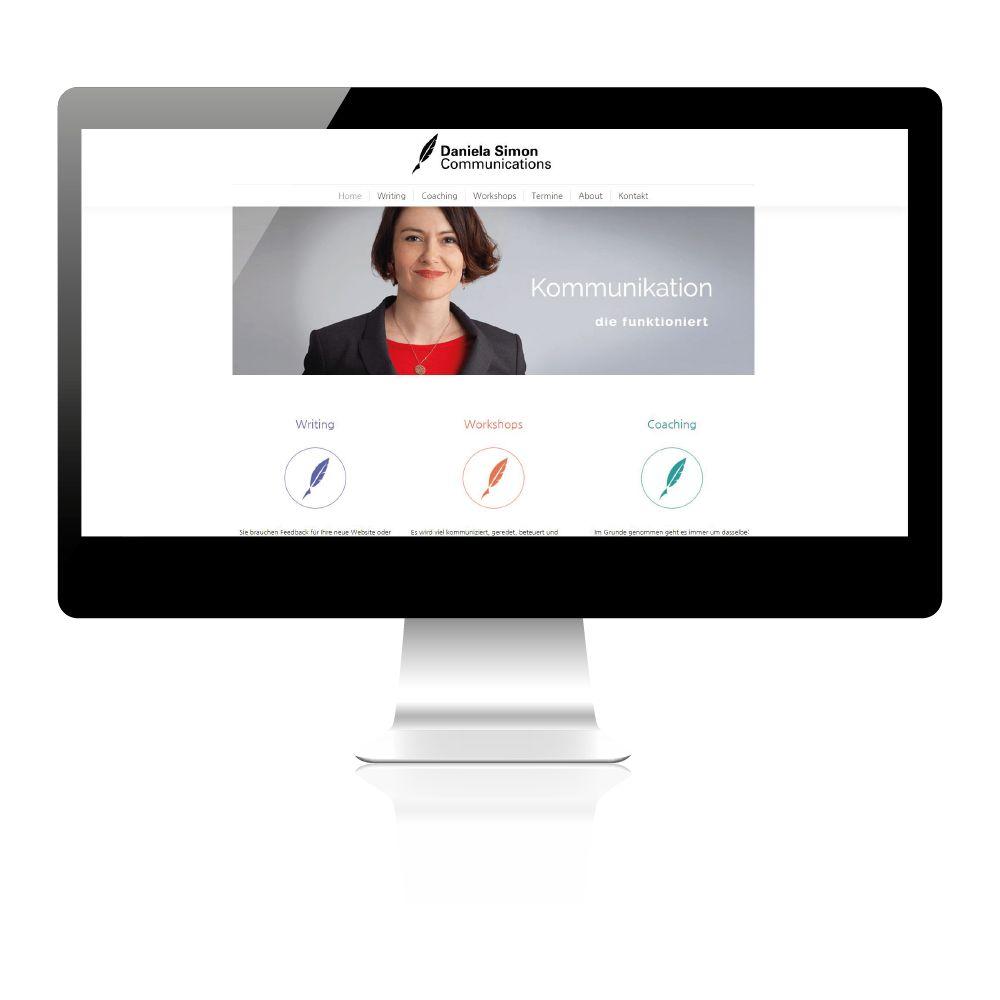 Erstellung Website für Texterin in Wien.