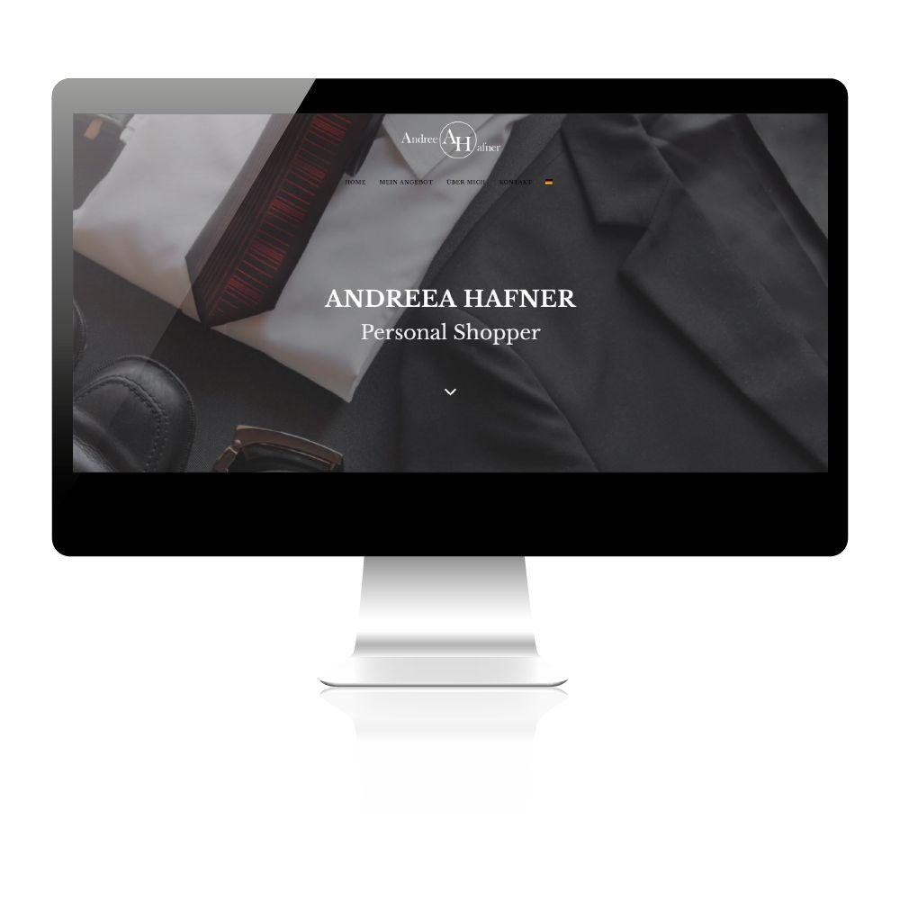 Homepage erstellen lassen in Wien. Website für Personal Shopper erstellen.