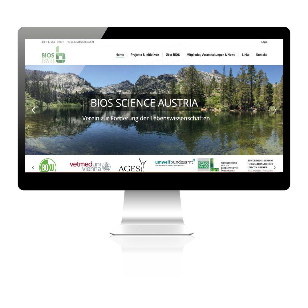 Beispielbild der Startseite/Homepage von einem Verein. Slidergestaltung, Startseitenbild.