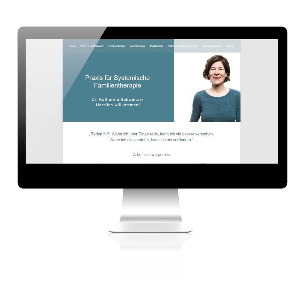 Erstellung Website für Familientherapeutin in Wien. Unterschiedliche Arbeitsschwerpunkte.