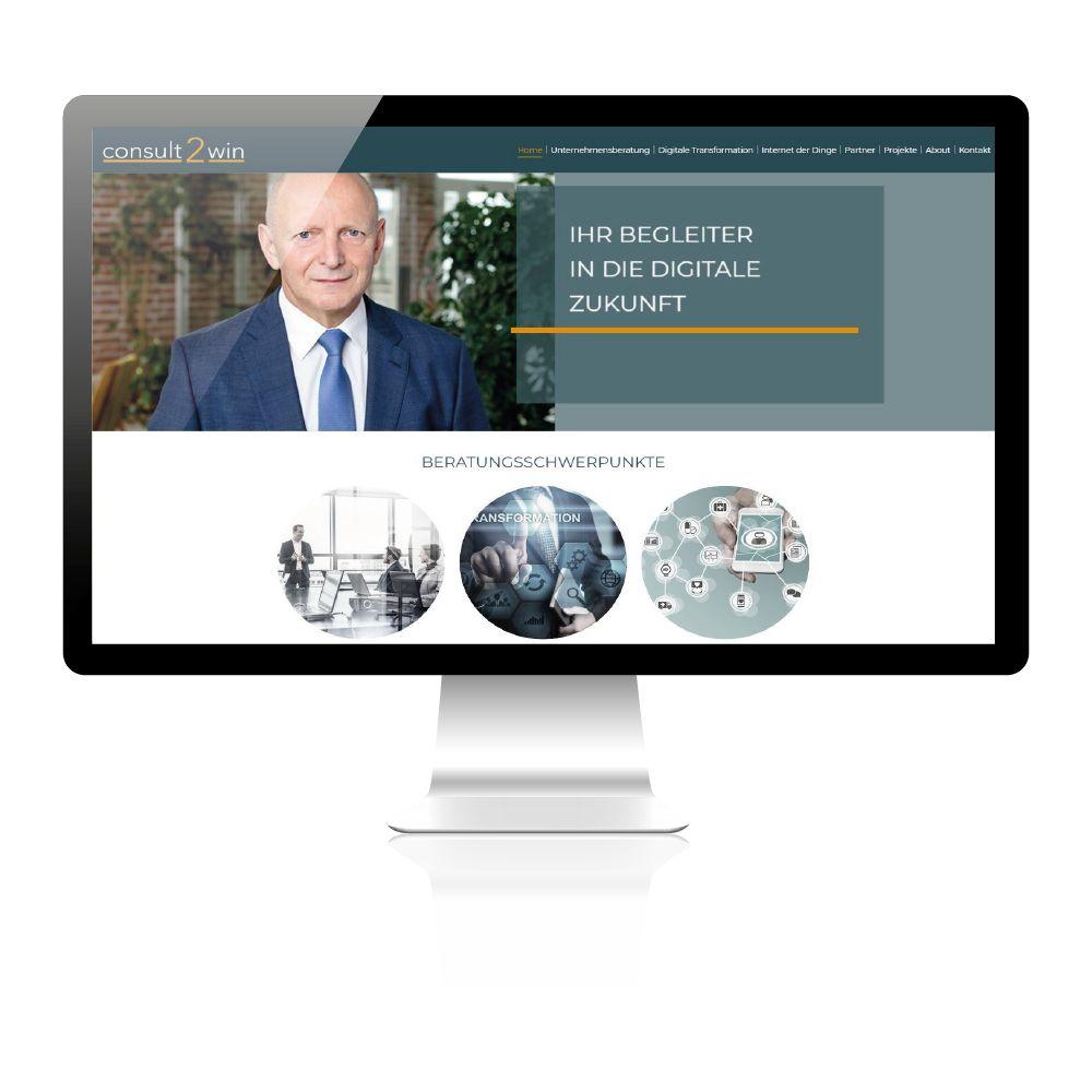 Erstellung für Unternehmensberatung. Konzepterstellung, Design und Layout. Logodesign, Visitenkarten und Briefpapier - consult2wien