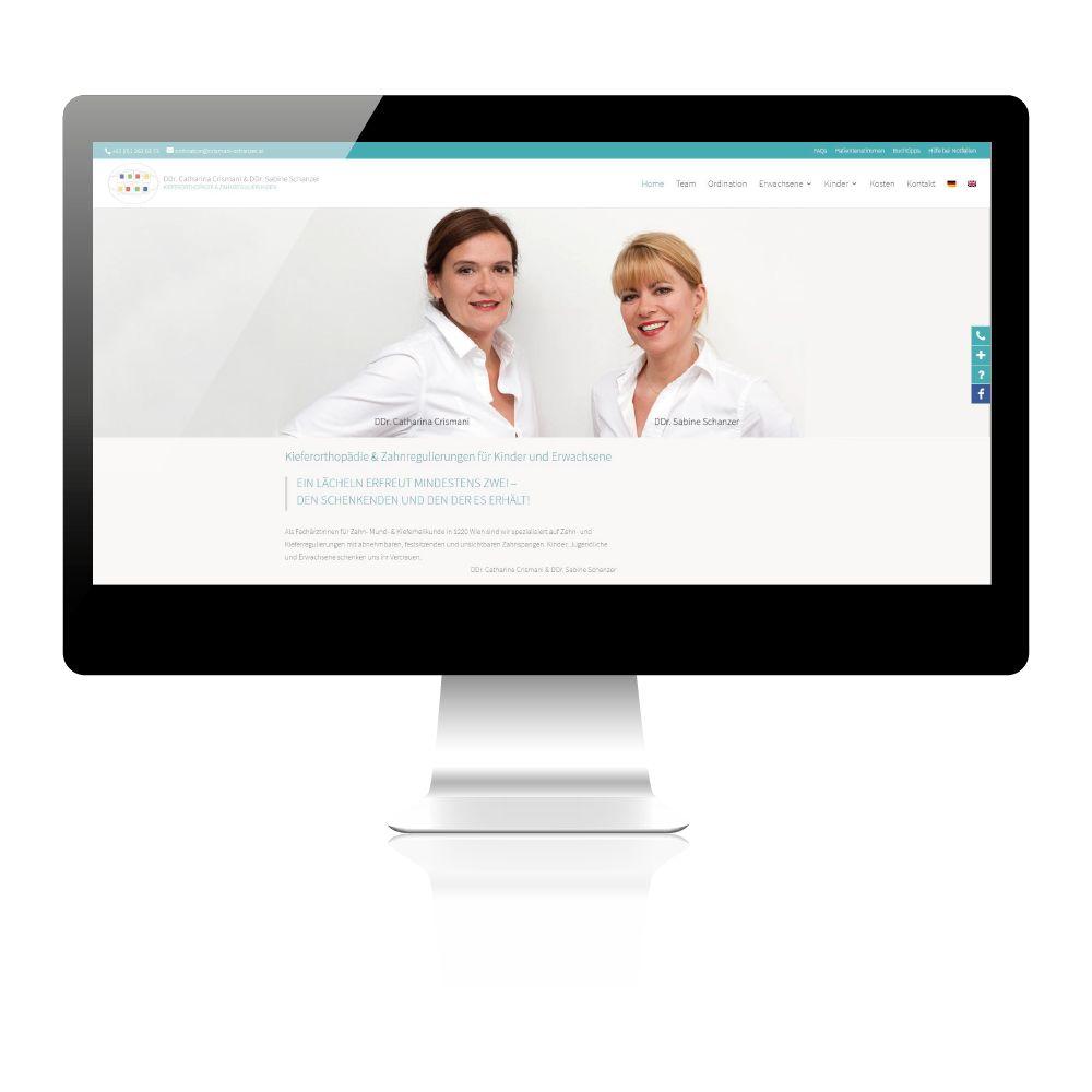 Erstellung Website für Zahnarztpraxis Kieferorthopäde in Wien.
